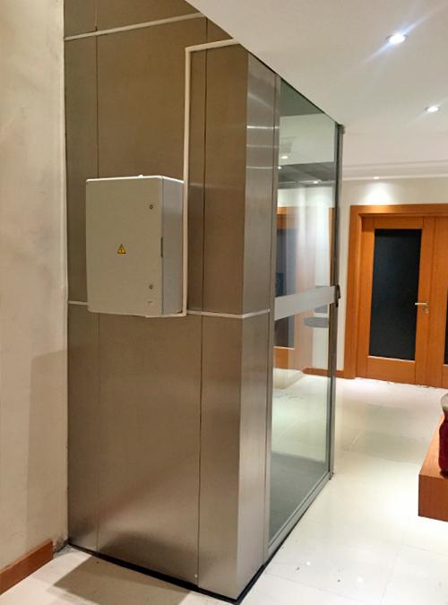 panoramik tip ev asansörü