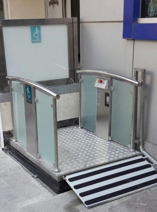 makaslı tip engelli asansörü